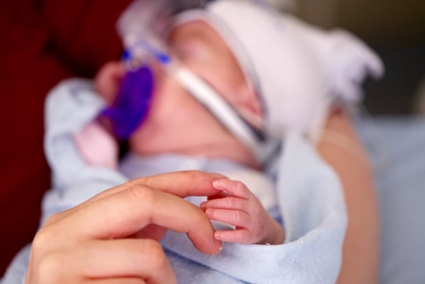 Baby Jackson's hand