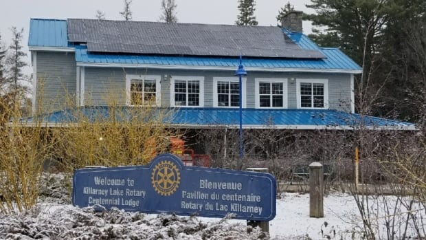 Solar panels were recently installed on the roof of the Killarney Lake Rotary Centennial Lodge. The panels will produce up to 20 per cent of the building's annual electricity.