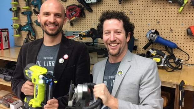 Toronto Tool Library co-founders Lawrence Alvarez, left, and Ryan Dyment recently launched an Indiegogo campaign to help save their organization.