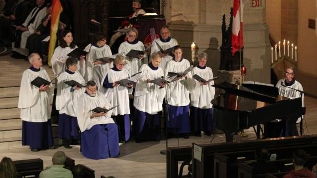 The Metropolitan United Church Choir performed at the vigil.
