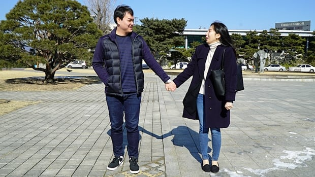 Geun il Lee, left, and Po Kyung Kang, both 24, met on a compulsory date through a university course in Seoul that requires the students to date each other and document their experiences.