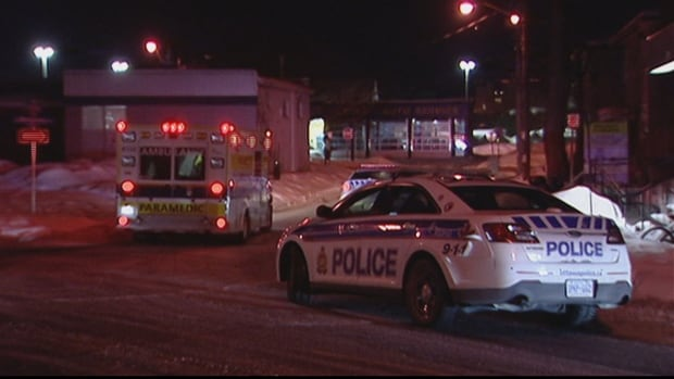 A man in his 20s was stabbed in the chest in Vanier early Tuesday morning.