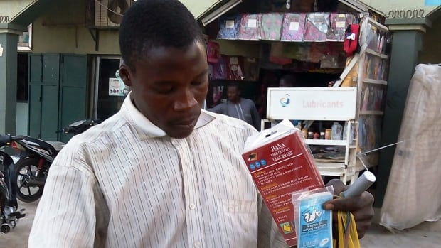 A vendor sells bags of rat poison in northern Nigeria's largest city of Kano in January 2016 following an outbreak of Lassa fever. The reservoir, or host, of Lassa virus is a rodent.