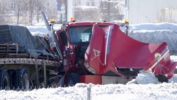 Police say a man in his 60s was seriously injured in a collision with a truck on Highway 440 in Laval.