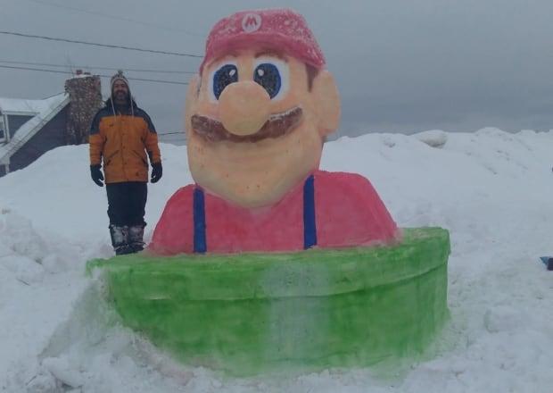 snow scupltures