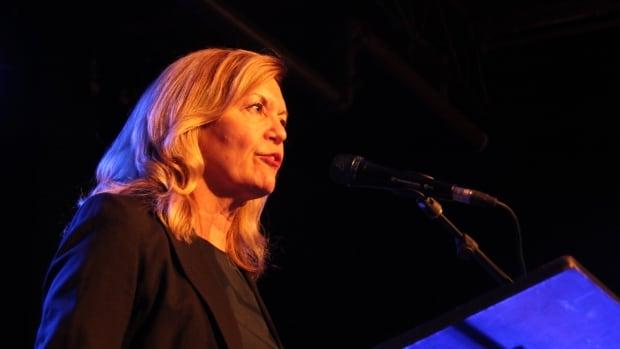 Christine Elliott,  Ontario Progressive Conservative leader hopeful, spoke at the party's caucus in Waterloo.