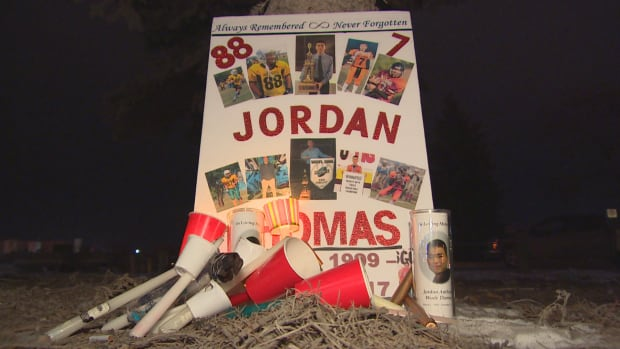 Jordan Thomas vigil