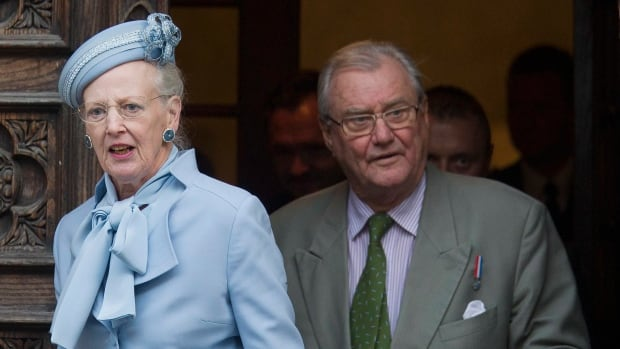 Danish royals Queen Margrethe II, left, and Prince Henrik are seen in an October 2014 photo. Prince Henrik, the French-born husband of Danish monarch Queen Margrethe who publicly vented his frustration at not being the social equal of his wife or their son in line to become Denmark's king, died late Tuesday.