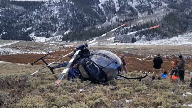 Leaping elk crashes low-flying helicopter in Utah
