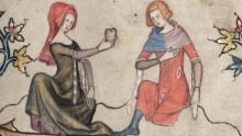 """The Amorous Heart - Detail from medieval manuscipt """"The Romance of Alexander"""""""