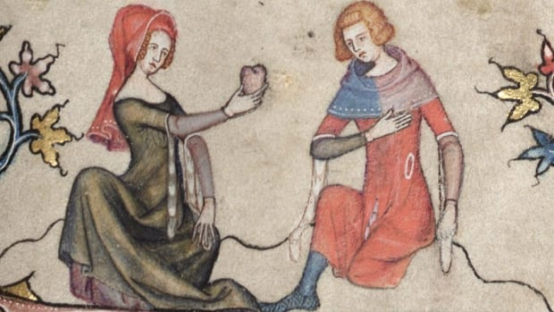 "The Amorous Heart - Detail from medieval manuscipt ""The Romance of Alexander"""