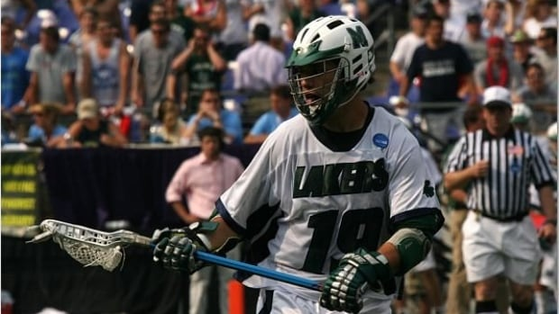 Alan Downey playing lacrosse for Mercyhurst University in 2007