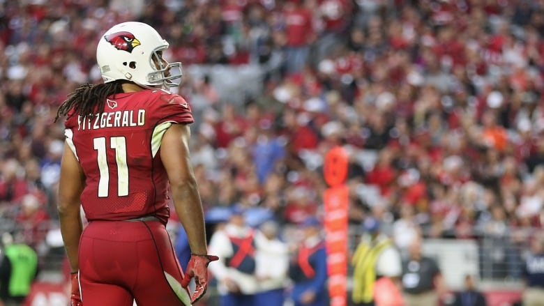 3881ec7c9 Arizona Cardinals wide receiver Larry Fitzgerald has put up 15,545  receiving yards and 110 TDs over the span of his 14-year career.