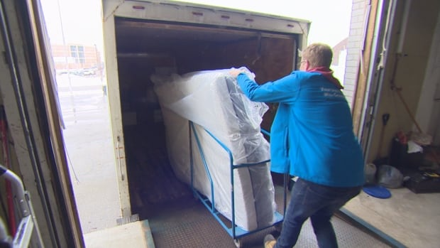 Furniture bank truck