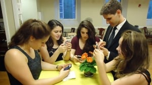 young folks on phones