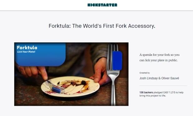 Forktula Kickstarter page