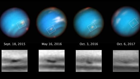 neptune s mysterious storm shrinking out of existence
