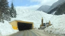 Hwy 1 avalanche control