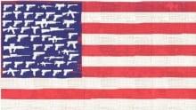 de Adder American Flag