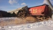 Train derailment southwest Edmonton