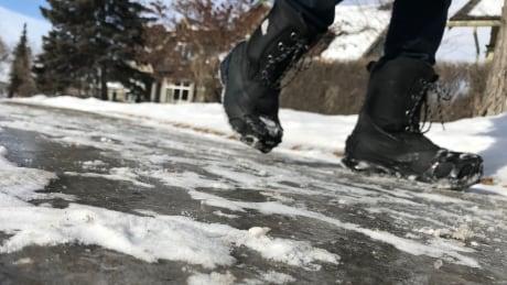 Icy sidewalks