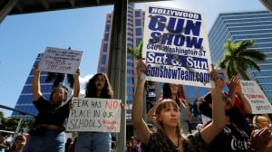 'We are going to be the last school shooting': Student survivors at Florida rally call for gun law changes