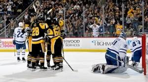 Surging Pens snap Leafs' 5-game win streak