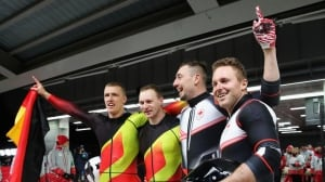 Canada's Kripps, Kopacz tie Germany for 2-man bobsleigh gold