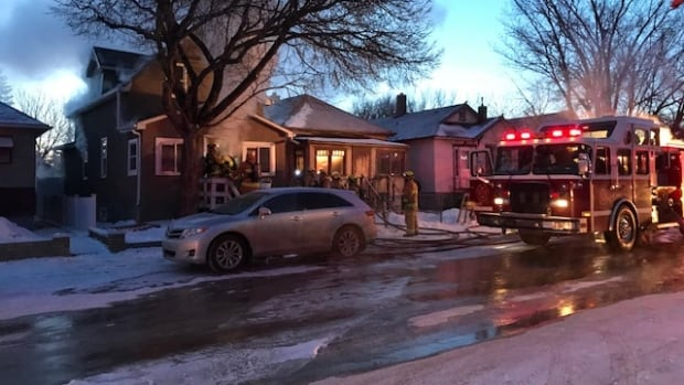 Calgary fire crews battle two-alarm fire in Bridgeland