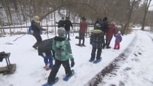 Snowshoeing event