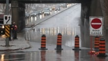 Road closure flooding Toronto