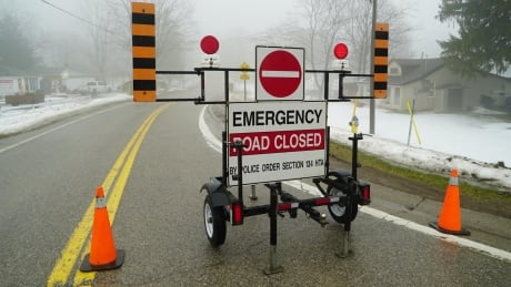 Highway 17 closed east of Mattawa due to flooding