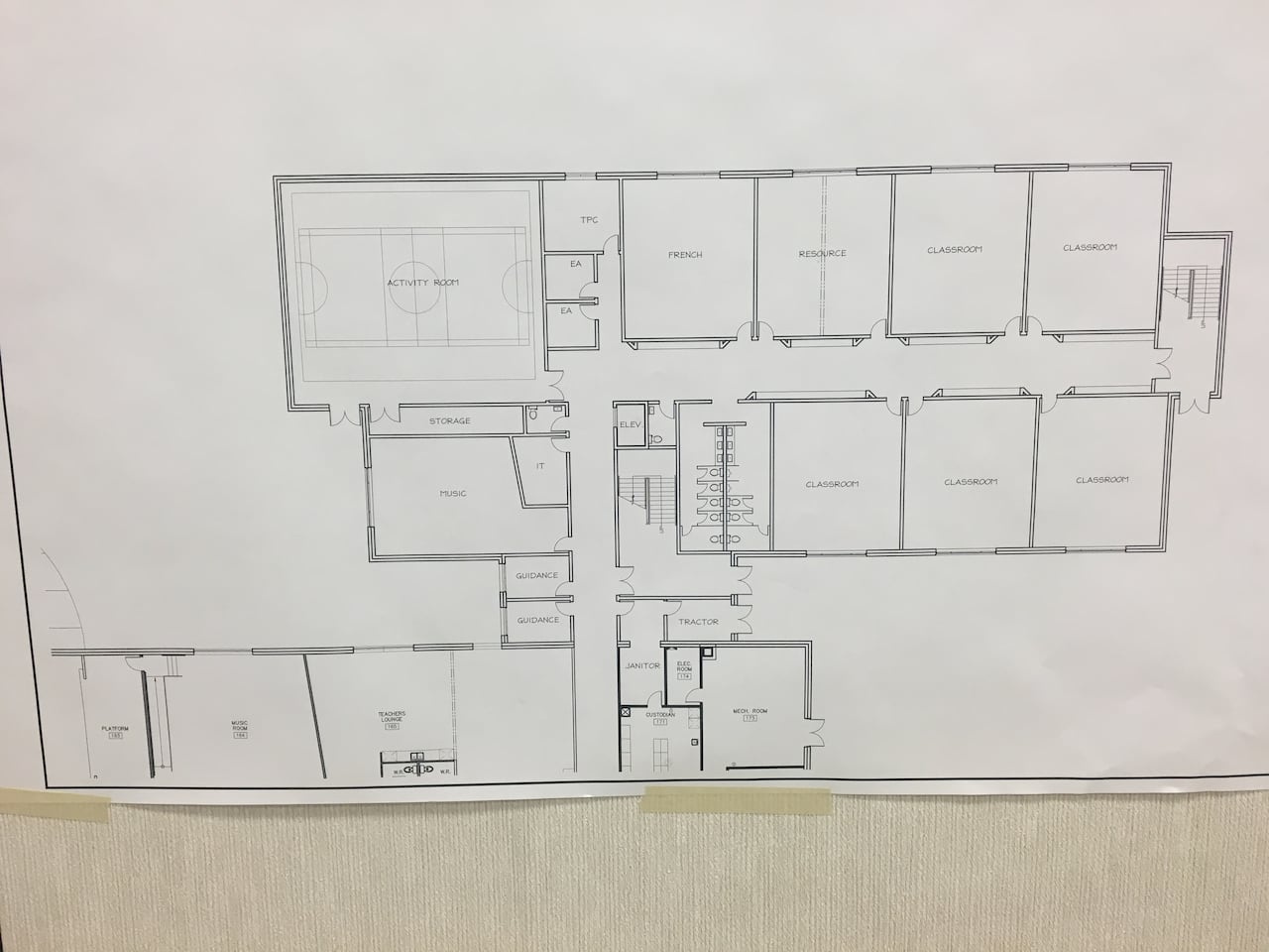 Detailed plans for 2-storey Stratford Elementary School expansion