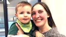 Rachel Farrar and her 19-month-old son Daniel