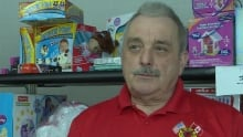 Gord Hamlyn organizer of toy drive corner brook fire fighters