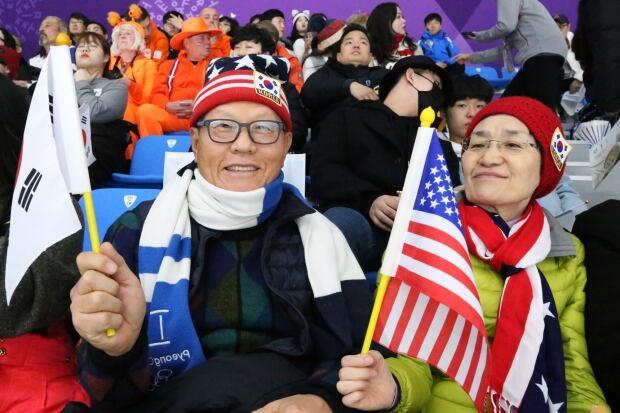 South Korean Olympic spectator