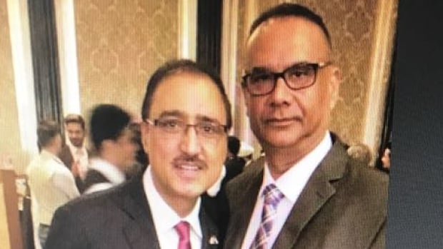 Justin Trudeau's Minister of Infrastructure and Communities Amarjeet Sohi pictured with Jaspal Atwal in Mumbai Feb. 20.