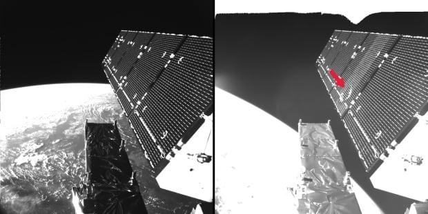 Satellite space debris