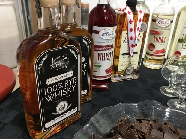 Last Mountain Distillery cask strength rye whisky, prairie cherry wine, and other spirits.
