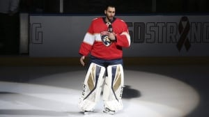 'Enough is enough': Panthers' Luongo leads tribute to victims of Florida school shooting