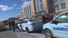 Taxi protest at Confederation Building