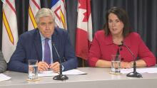 Dwight Ball and Siobhan Coady
