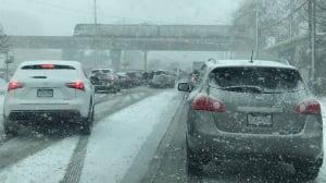 Schools close, traffic slows as snow hits B.C.'s South Coast