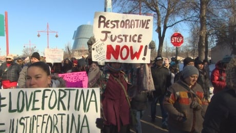 March for Tina Fontaine at The Forks in Winnipeg