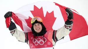 Canada's Seb Toutant grabs 1st gold in Olympic snowboard big air