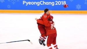 OAR holds off Germany to win men's hockey gold in OT thriller