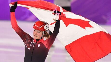 Kim Boutin Flag-Bearer Closing Ceremony Pyeongchang