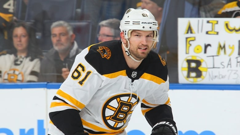 Newly acquired Boston Bruins forward Rick Nash skates in warmups before his  Bruins debut against the Buffalo Sabres on Sunday. (NHLI via Getty Images) 4770677f6
