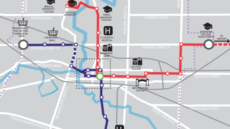 London City Bus Map.What Does The New City Council Mean For Bus Rapid Transit Cbc News