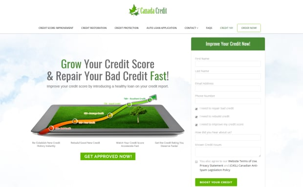 Canada Credit website